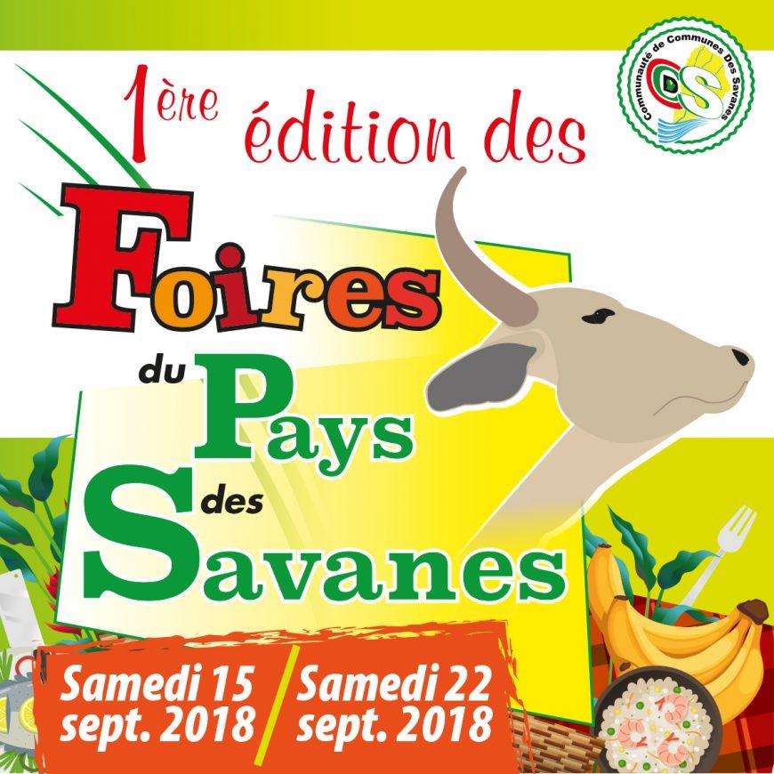 Foires du Pays des Savanes (1ère Edition) les 15 & 22 septembre 2018