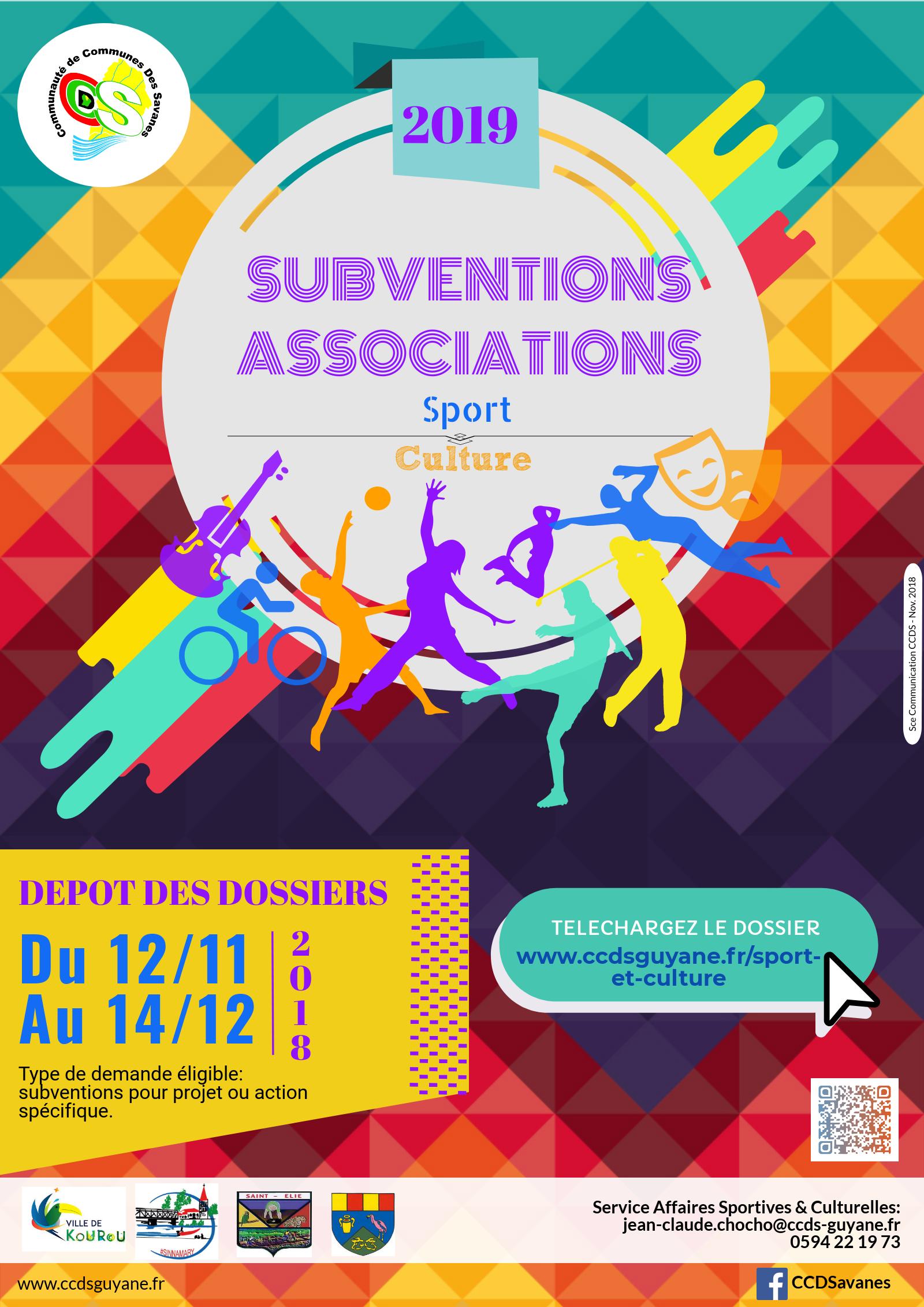 Associations, faites votre demande de subventions pour 2019
