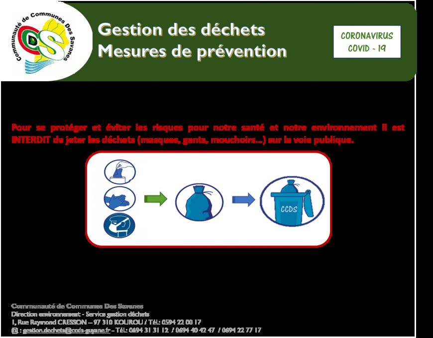 COMMUNIQUE  Gestion des déchets : Mesures de Prévention