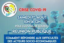 CRISE COVID-19 : Réunion Publique Samedi 01 Août 2020 de 10H à 12H00