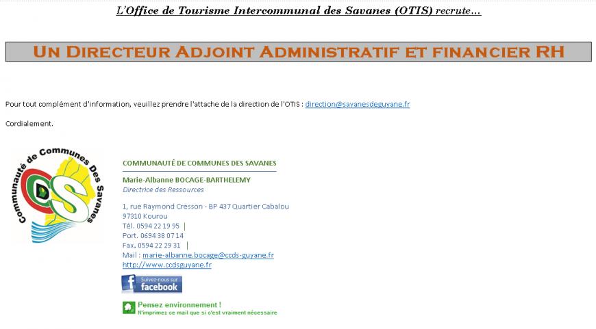 Recrutement d'un Directeur Adjoint Administratif et Financier RH